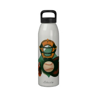 Deportes del vintage, jugador de béisbol, el colec botellas de agua reutilizables