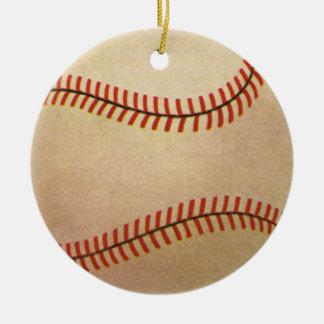 Deportes del vintage jugador de béisbol el colec ornamentos de reyes magos