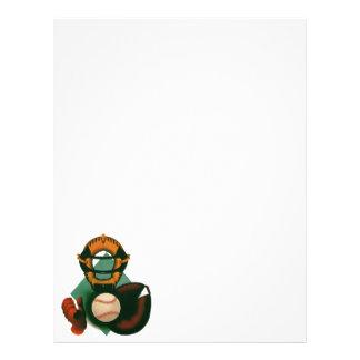 Deportes del vintage jugador de béisbol el colec flyer personalizado