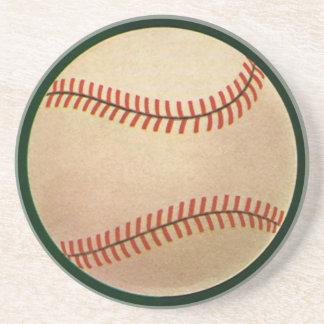 Deportes del vintage jugador de béisbol el colec posavasos cerveza