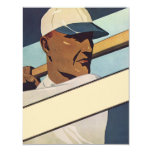 Deportes del vintage, jugador de béisbol comunicado