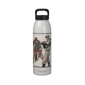 Deportes del vintage, jugadores de béisbol botellas de agua reutilizables