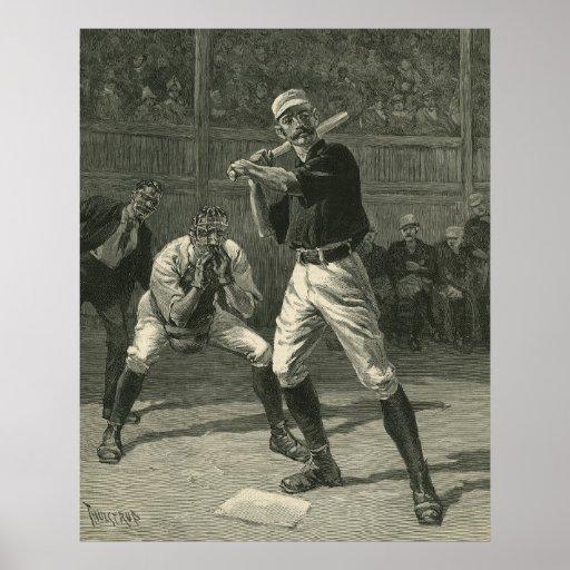 Deportes del vintage, jugadores de béisbol antiguo impresiones