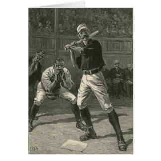 Deportes del vintage jugadores de béisbol felicitación