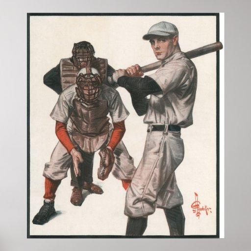 Deportes del vintage, jugadores de béisbol posters