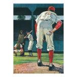 Deportes del vintage, jugadores de béisbol que jue invitacion personalizada