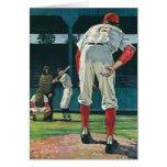 Deportes del vintage, jugadores de béisbol que jue tarjeton