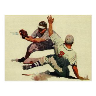 Deportes del vintage, jugadores de béisbol postales