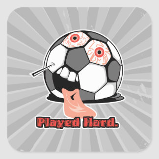 deportes desinflados divertidos duros jugados del pegatina cuadrada