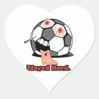 deportes desinflados divertidos duros jugados del pegatina en forma de corazón