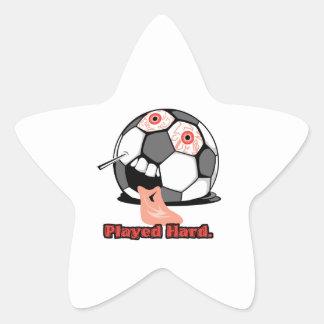 deportes desinflados divertidos duros jugados del pegatina en forma de estrella
