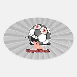 deportes desinflados divertidos duros jugados del pegatina ovalada