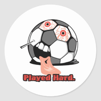 deportes desinflados divertidos duros jugados del pegatina redonda
