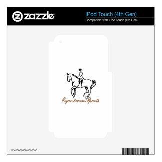 Deportes ecuestres calcomanía para iPod touch 4G