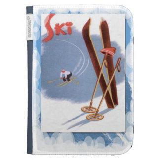 Deportes, esquís y palillos de invierno