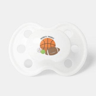 Deportes fanáticos chupete de bebe