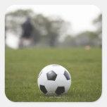 Deportes, fútbol 2 calcomanías cuadradas