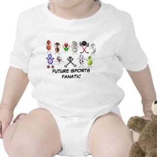 Deportes futuros fanáticos trajes de bebé