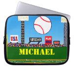 Deportes lindos ordenador portátil del béisbol de  fundas ordendadores