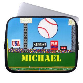 Deportes lindos ordenador portátil del béisbol de  fundas portátiles
