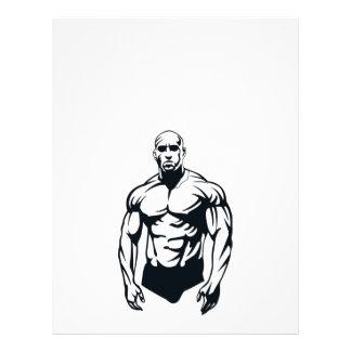 deportes musculares del hombre del body-builder_ve tarjetas informativas
