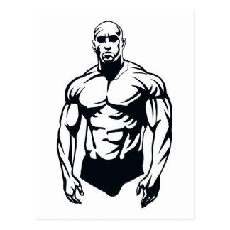 deportes musculares del hombre del body-builder_ve postales