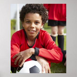 Deportes, niños, fútbol 2 póster