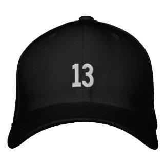 deportes número 13 gorras de béisbol bordadas