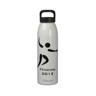 Deportes olímpicos del pictograma que cercan liber botella de agua reutilizable