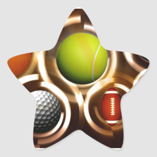 Deportes Pegatina En Forma De Estrella