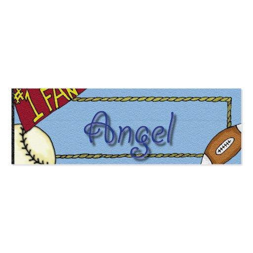 Deportes personalizados ángel tarjetas de visita mini