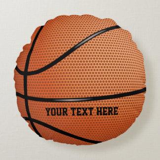 Deportes personalizados baloncesto cojín redondo