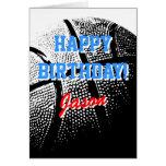 Deportes personalizados del baloncesto de la tarje felicitacion