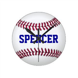 Deportes personalizados del béisbol reloj