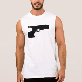 Deportes que tiran el arma camisetas sin mangas
