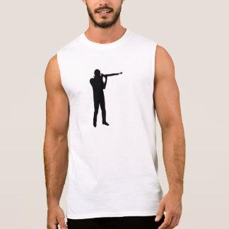 Deportes que tiran el rifle camisetas sin mangas