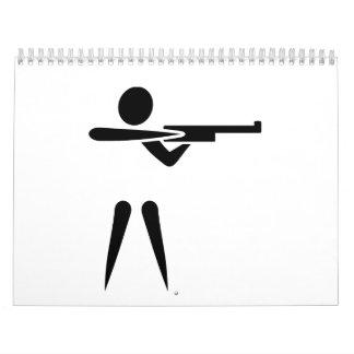 Deportes que tiran símbolo calendario de pared