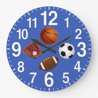 Deportes - relojes de pared temáticos en SU COLOR