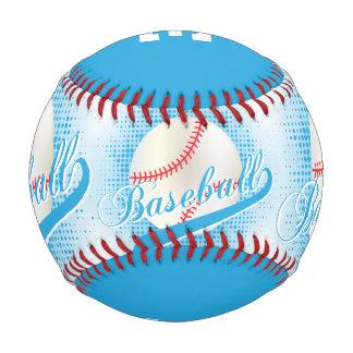 Deportes retros blancos del béisbol de los azules