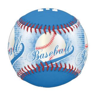 Deportes retros blancos del béisbol del azul el |