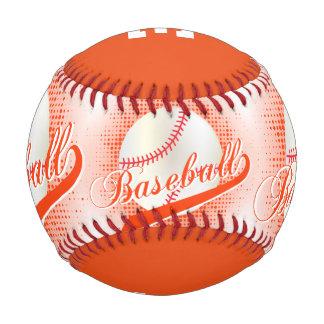 Deportes retros blancos del béisbol del naranja el