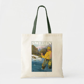 Deportes suecos de Suecia del vintage, pesca del Bolsas De Mano