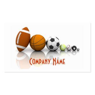 Deportes/tarjeta de visita de las bolas