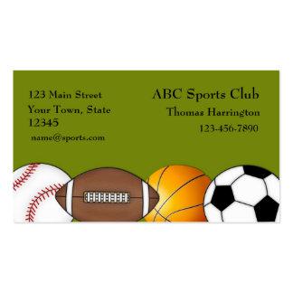 Deportes - tarjeta de visita temática