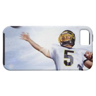 deportista que juega con la bola de rugbi funda para iPhone SE/5/5s