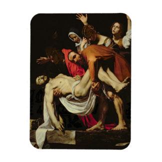 Deposición, 1602-4 (aceite en lona) iman rectangular