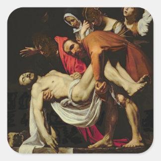 Deposición, 1602-4 (aceite en lona) pegatina cuadrada
