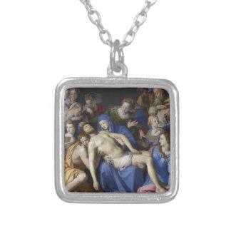 Deposición de Cristo en la tumba Collar Plateado