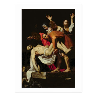 Deposition, 1602-4 (oil on canvas) postcard