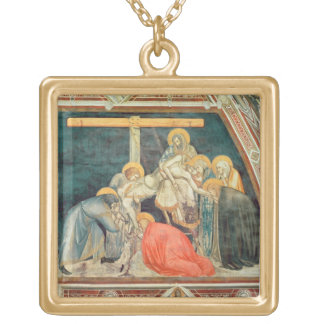 Deposition, c.1320 (fresco) gold plated necklace